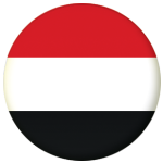Yemen Country Flag 58mm Mirror Keyring